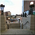 SJ8990 : View from top of the Plaza Steps by Gerald England