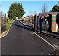 ST8126 : Entrance drive to Gillingham School main hall and arts centre by Jaggery