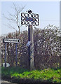 TM2254 : Clopton (Suffolk) village sign by Adrian S Pye