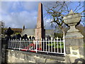 SH7850 : War memorial Penmachno Christmas Day 2014 by Richard Hoare
