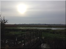 TM5075 : Footbridge at the end of the Town Marshes footpath, Southwold by ruth e