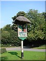 TL6848 : Great Wratting village sign by Adrian S Pye