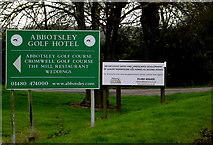 TL2056 : Abbotsley Golf Club sign by Adrian Cable