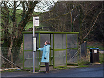 NX0054 : War memorial bus stop - Portpatrick by The Carlisle Kid