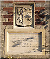 TL4860 : Willys Almshouses, Church Street, commemoration plaque by Alan Murray-Rust