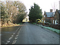 TG1027 : Road past Estate cottages at Heydon by Adrian S Pye