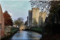 TR1458 : Canterbury West Gate by Michael Garlick