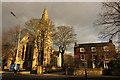 SK9772 : St.Nicholas' church and Newport Manor by Richard Croft