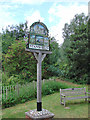 TL7852 : Stansfield village sign by Adrian S Pye