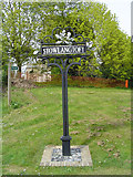 TL9568 : Stowlangtoft village sign by Adrian S Pye