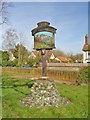 TM0375 : The Rickinghalls village sign by Adrian S Pye