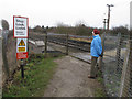 SD2905 : Pedestrian level crossing, Altcar by David Hawgood