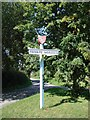 TL9453 : Thorpe Morieux village sign by Adrian S Pye