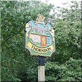 TM1469 : Thorndon village sign by Adrian S Pye