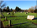 ST3093 : Boulders on a green in Llantarnam Business Park, Cwmbran by Jaggery