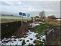 SE2702 : TPT sign footpath straight on is called Maggot Lane by Steve  Fareham