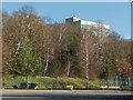TQ0762 : Office block near Brooklands by Alan Hunt