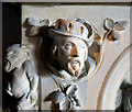 SU7856 : Fireplace Detail in Elvetham Hall by Des Blenkinsopp