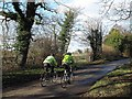 SJ7957 : Cyclists on Betchton Lane by Stephen Craven
