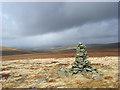 NY7635 : Cairn on Tynehead Fell, Alston by Andrew Smith