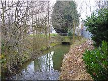 TQ2837 : The Gatwick Stream at Three Bridges by Robin Webster