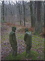 SD3391 : 'Private Meeting', a sculpture at Grizedale Forest by Karl and Ali