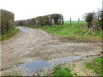 SU6615 : Path junction near Glidden Farm by Shazz