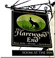 SO5226 : Inn name sign in Harewood End by Jaggery