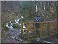 SD3393 : Footbridge over beck near Bogle Crag car park by Karl and Ali