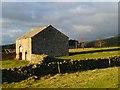 NY6828 : Barn and pastures, Knock, Long Marton by Andrew Smith