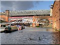 SJ8397 : Castlefield Basin and Viaduct by David Dixon
