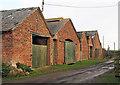 NZ4129 : Barns at Embleton by Trevor Littlewood