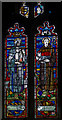 TQ8218 : Sussex Saints window, St George's church, Brede by Julian P Guffogg