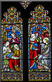 TQ8218 : South chancel Stained glass window, St George's church, Brede by Julian P Guffogg