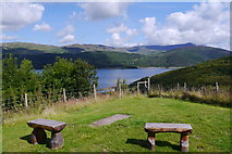 SH6515 : View across the Mawddach Estuary from the touring site at Graig Wen by Phil Champion
