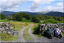 SH6515 : Entrance to the lower camping fields at Graig Wen by Phil Champion