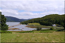 SH6515 : View from the estuary field at Graig Wen towards salt marsh near Garth Isaf by Phil Champion