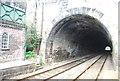 SE3457 : Tunnel, Knaresborough Station by N Chadwick