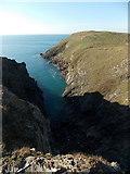 SW8576 : Trevose Head: into Mackerel Cove by Chris Downer
