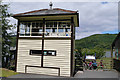 SH6918 : Disused signal box at Penmaenpool by Phil Champion