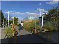 TQ3777 : Greenwich station access ramp by Stephen Craven