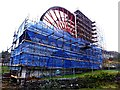 SC4385 : Laxey Wheel undergoing repairs (2) by Richard Hoare