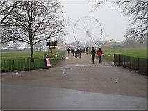 TQ2780 : Path to Hyde Park Winter Wonderland by David Hawgood