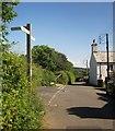 SX5079 : Lane junction, Mary Tavy by Derek Harper
