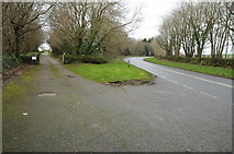 SW8558 : Entrance off the A3058 by Philip Halling