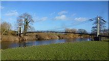 SO5628 : Footbridge at Sellack Boat by Jonathan Billinger