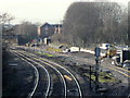 SO9668 : Bromsgrove Station Work on New Tracks For Station January 2015 by Roy Hughes