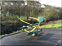 SJ8545 : Lyme Valley Park: outdoor gym equipment by Jonathan Hutchins