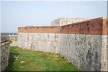 SZ6497 : Moat and Wall, Southsea Castle by N Chadwick