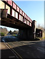 SO5239 : West side of a railway bridge over Eign Road, Hereford by Jaggery